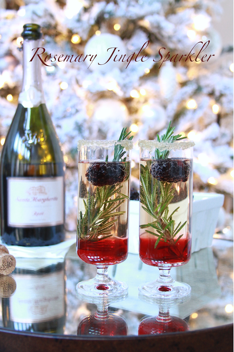 Holiday Drink: Rosemary Jingle Sparkler