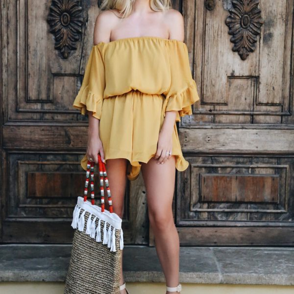 Honey Yellow Romper