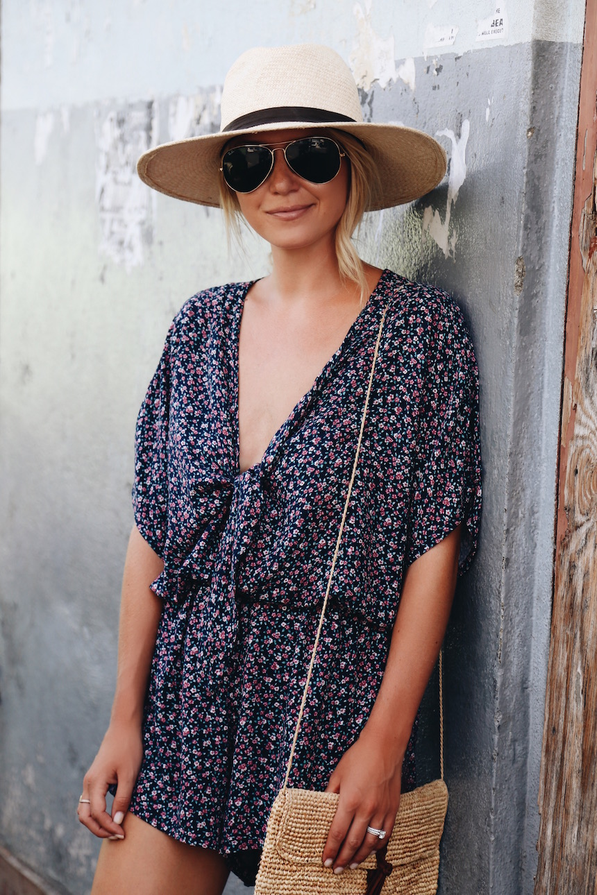 3711efe201a2 It was hot and sunny so I wore this breezy Rails romper. The material is  soft and it didn t wrinkle from packing (seriously one of the only items I  didn t ...