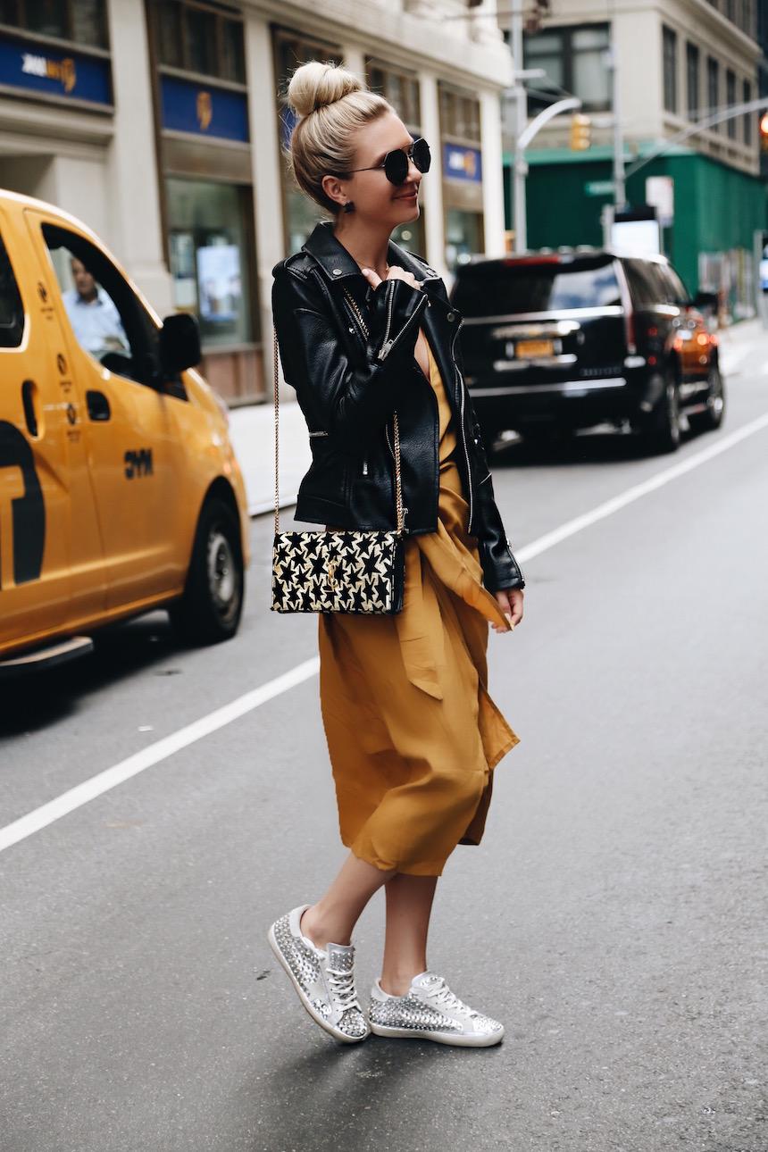 A Mustard Dress For NYFW