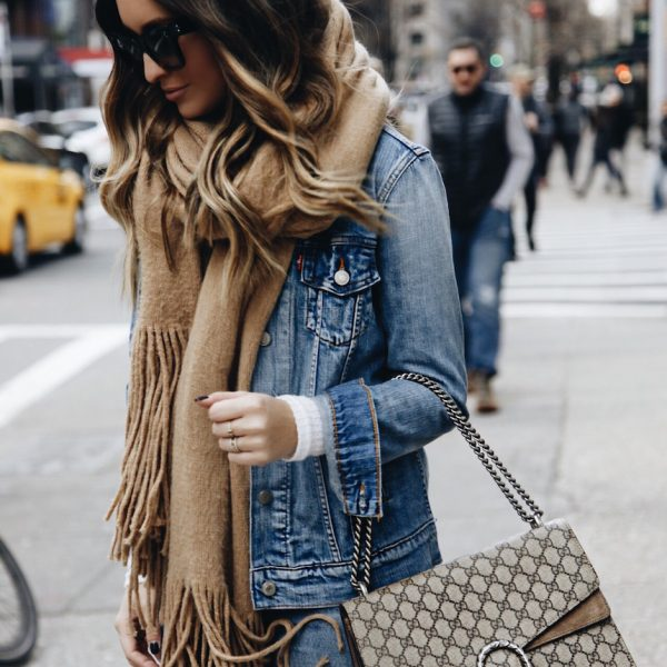 How to Style a Denim Jacket in the Winter