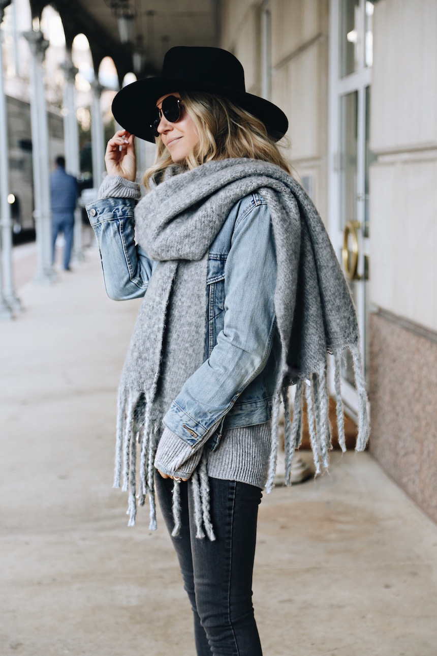 ca15bd327aa0 I always wear beanies in the winter and forget about my fedoras! I love how  they look with denim jackets and will definitely be wearing this combo more  ...
