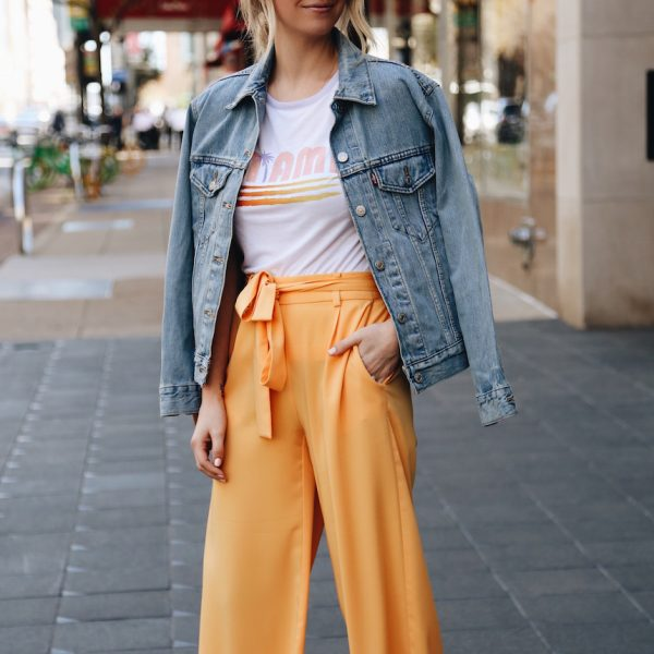 Orange Pants for Spring