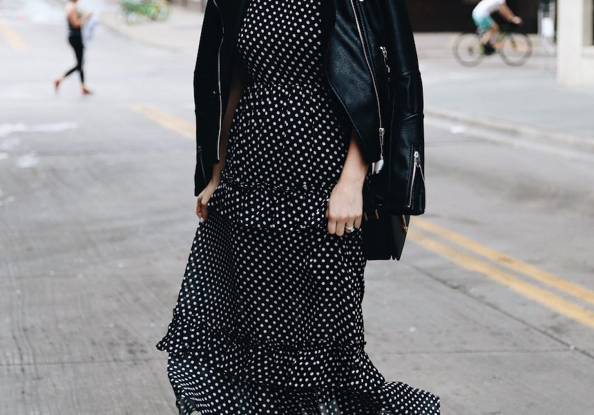 A Chic Way To Wear Polka Dots