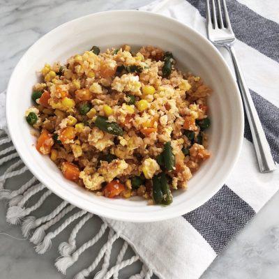 10-minute Cauliflower Fried Rice (Healthy!)
