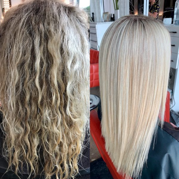 Brazilian Blowout Before & After